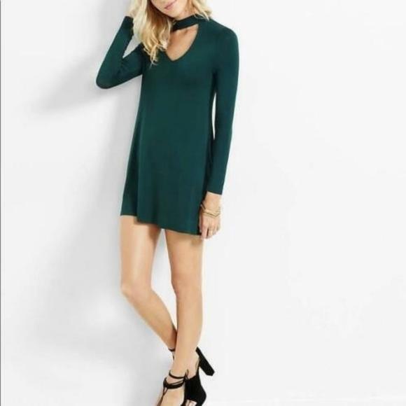Express Dresses & Skirts - EXPRESS CUT-OUT TRAPEZE CHOKER DRESS sz M
